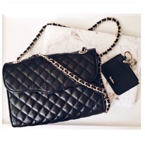 Rebecca Minkoff Large Quilted Affair Black *GOLD*